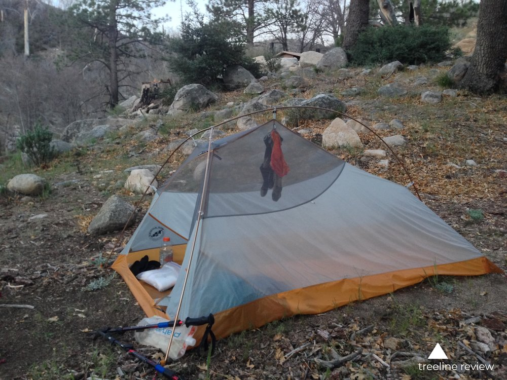 Even when you are hiking by yourself, a two person tent can be a good option to increase your storage ability.   Photo by John Carr.