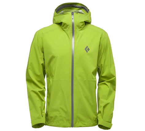 The front of the Black Diamond Stormline Stretch jacket.