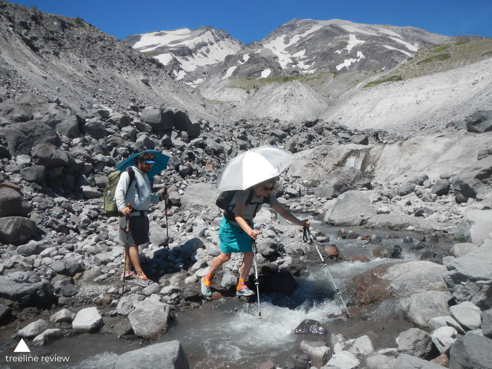 Pack volume for a weekend backpacking trip around Mount St. Helens, WA in the July is likely to be smaller than a fall or winter trip in the same area.   Photo by Mike Unger.