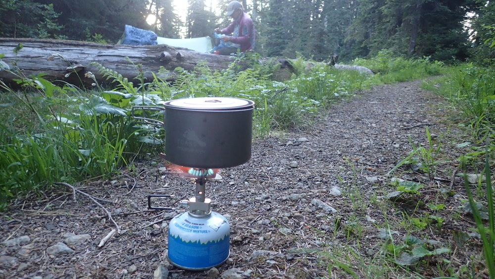 The SnowPeak LiteMax tested on a section of the Boundary Trail in the Pasayten Wilderness.   Photo courtesy Liz Thomas.