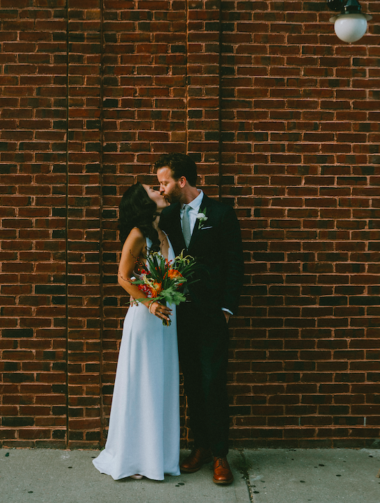 Ellie & EricBrooklyn Brewery Weddingholy. cow. ellie & eric had the sweetest intimate diy wedding at brooklyn berg'n, and wow wow wow the details! their wedding cake was a pie, their ring box was a glass prism, there was a DISCO BALL. need I say more.  -