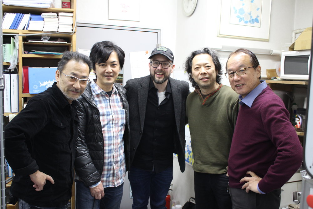 From left to right: Takashi Suzuki, Nori Kitagawa, me, Naoya Hasegawa and the CANOPUS President Shinichi Usuda