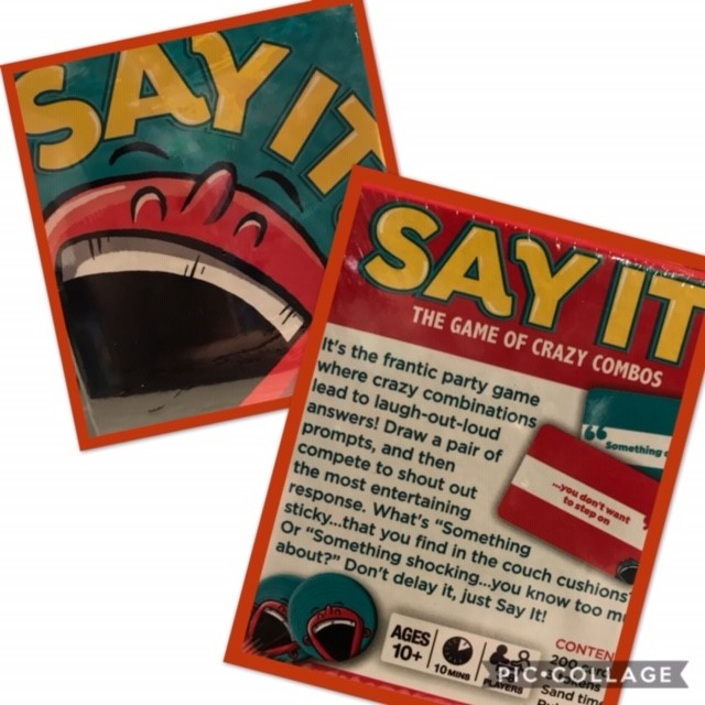 SAY IT - ages 10+ (can target abstract thinking, vocabulary, sequencing, following directions and more)