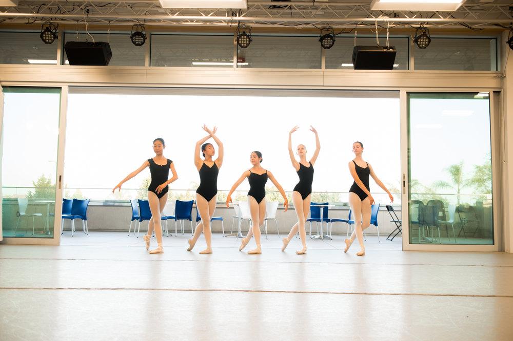 PADC dancers in our gorgeous in-door/out-door Studio A studio & venue.