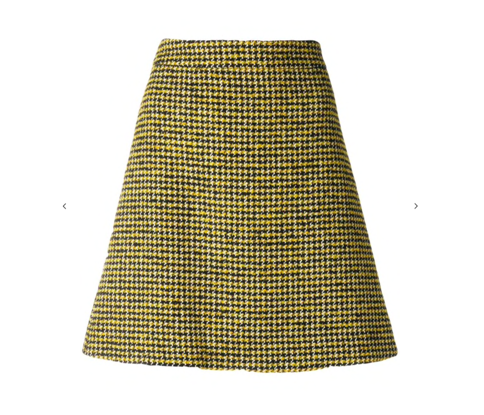 PS by Paul Smith - Dogtooth Patterned Skirt