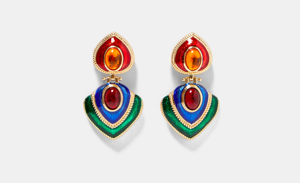 Zara - Colorful Vintage Earrings