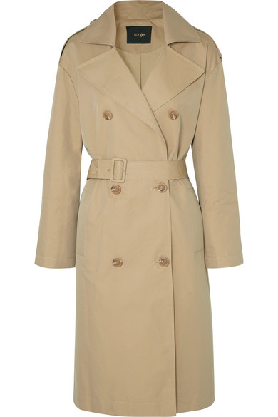 Belted Canvas Trench Coat by Maje -