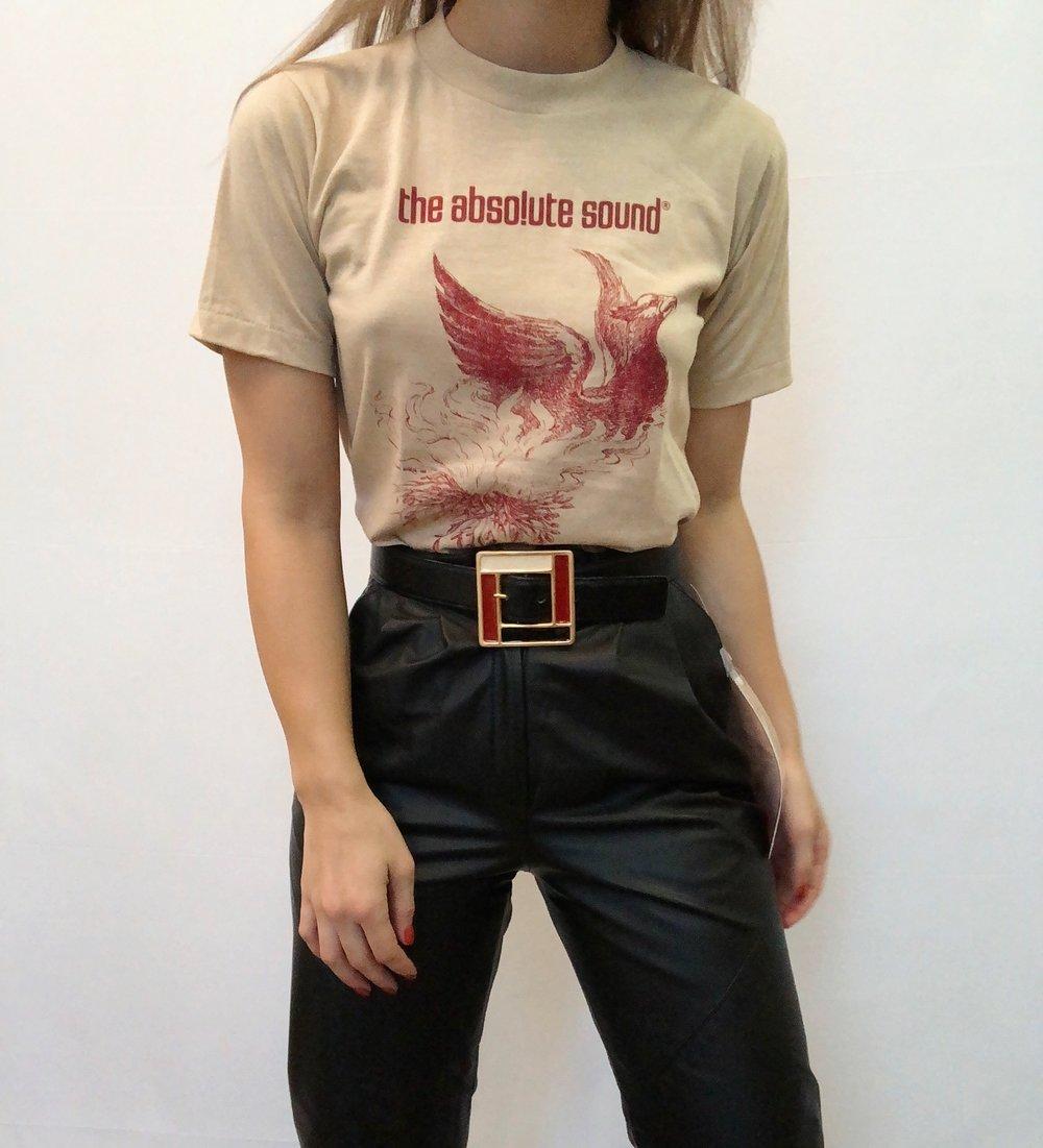 Vintage Black Leather High Rise Pants -