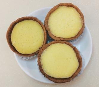 Vegan 'egg' tarts from Loving Hut, Hong Kong