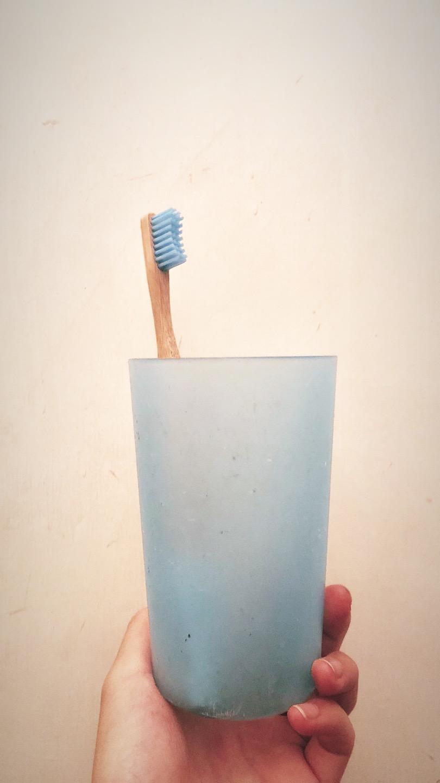 My bamboo toothbrush from Live Zero!