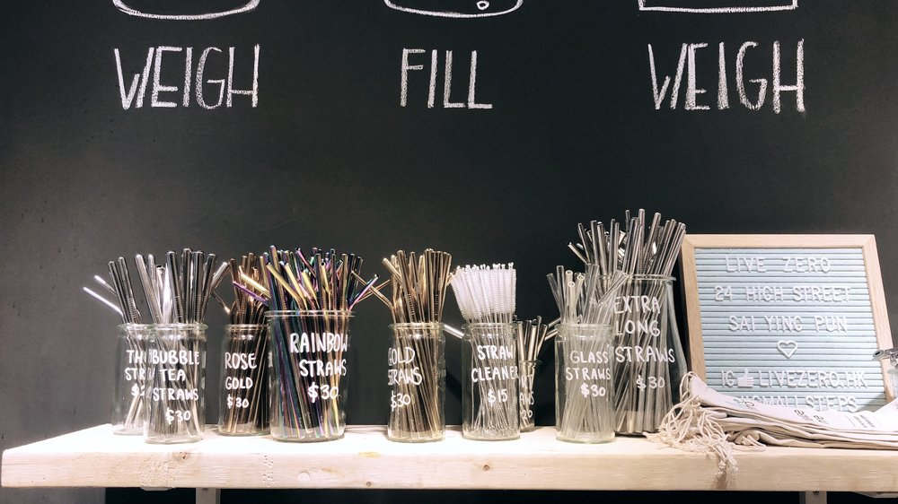 Reusable Straws from Live Zero,24 High Street Sai Ying Pun