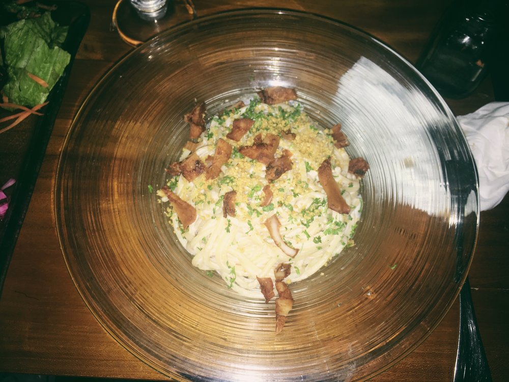 Main: Carbonara with Coconut 'Bacon' -