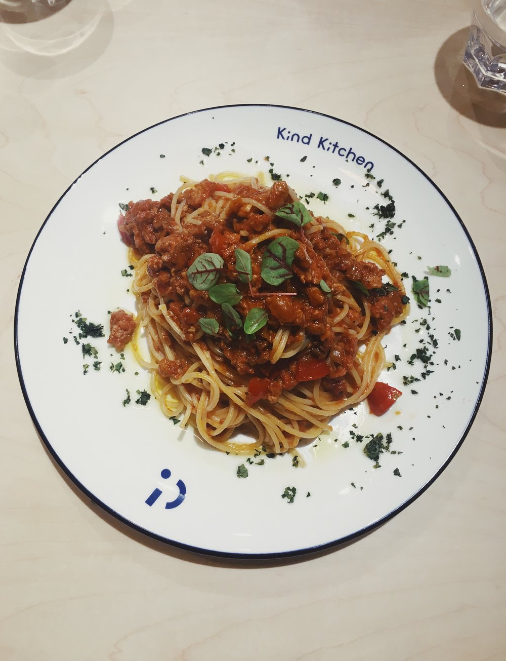 Spaghetti Bolognese from Kind Kitchen ($88)