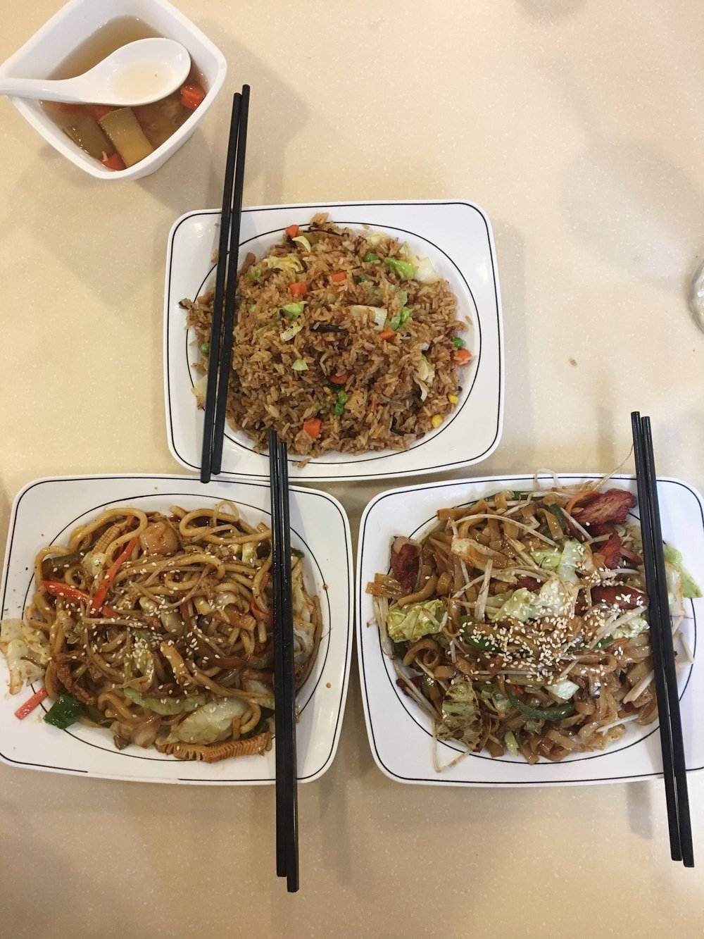 Fried Flat Noodles with Vegan Barbecue Pork from Loving Hut