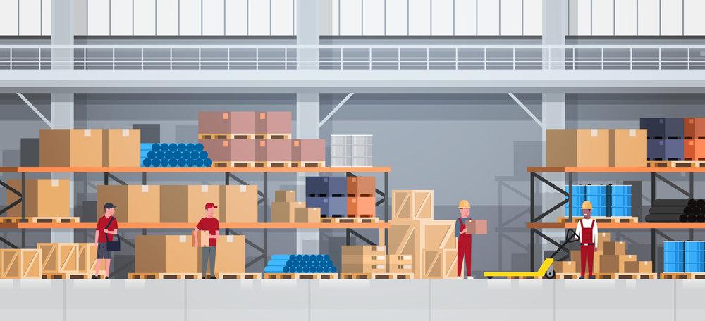 妥善儲存商品於我們的空調倉庫 -