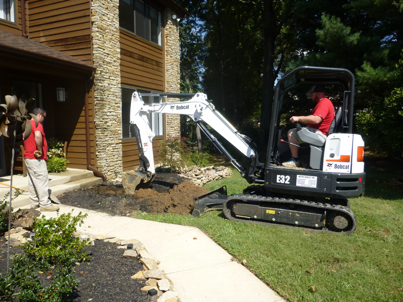 Apple Plumbing with Bobcat