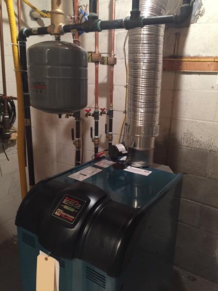 New Propane Boiler Installation — Apple Plumbing & Heating Inc
