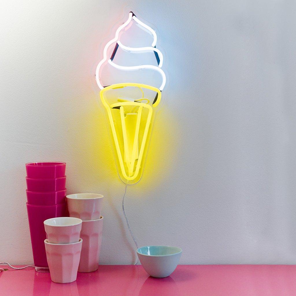 Ice Cream Neon Wall Light Hire — Make It Pop