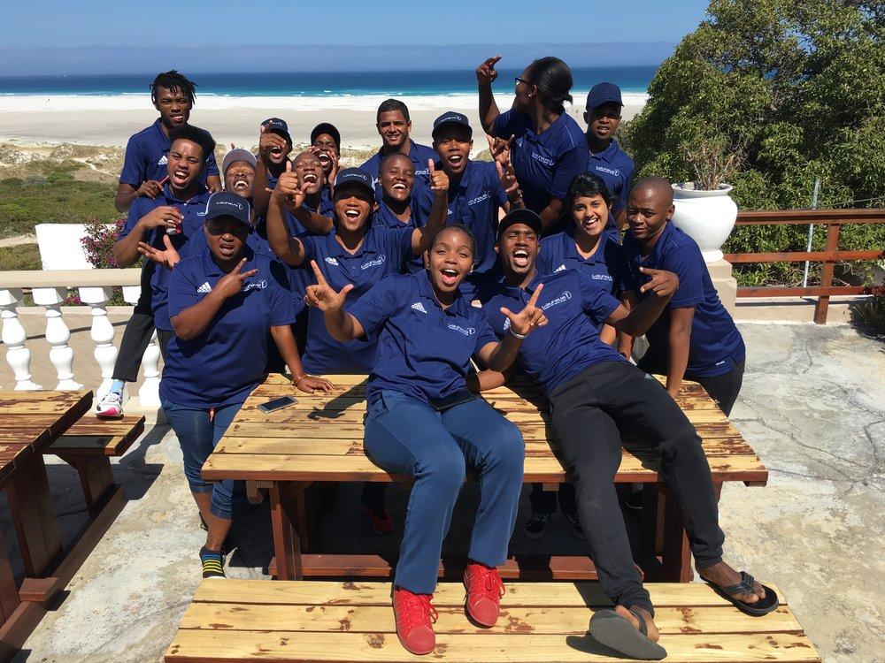 The 2017 Laureus YES leaders at Nordhoek, Cape Town