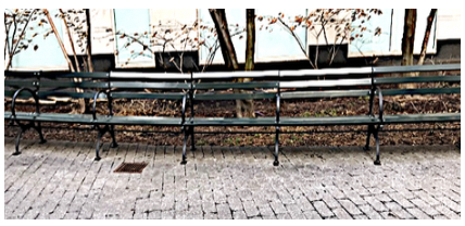 The Teardrop Park Benches