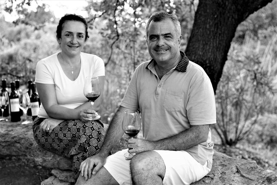 Önologin Diana Salamé und Weingutsbesitzer Naji Boutros, Château Belle-Vue, Bhamdoun, Libanon