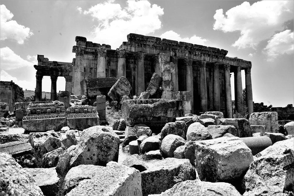 Bacchus Tempel in Balbeek.