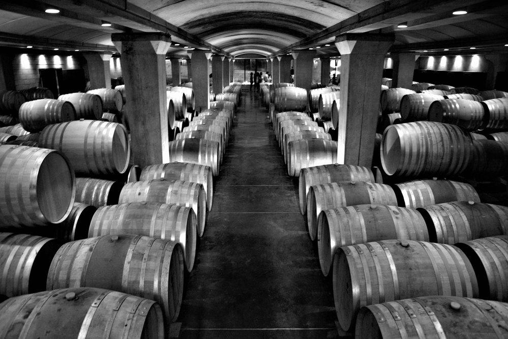 Barrique Keller der Ixir Winery.