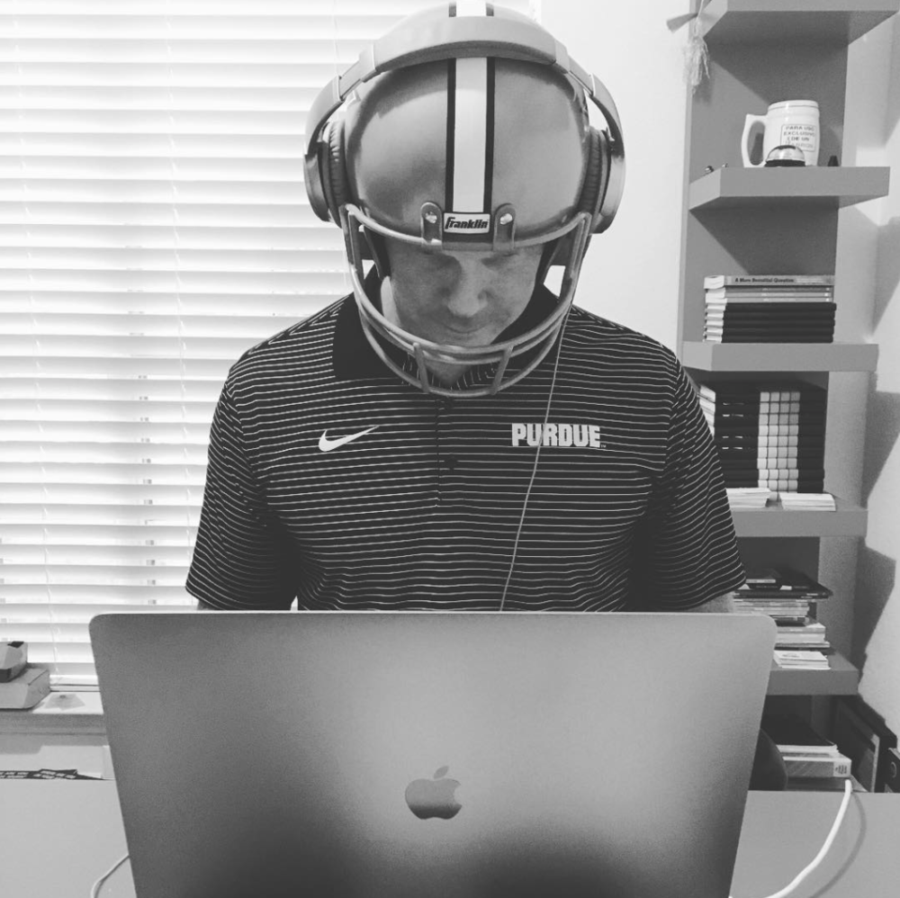 No, I don't typically wear the helmet at work, but the headphones work great even when I am wearing it . . .