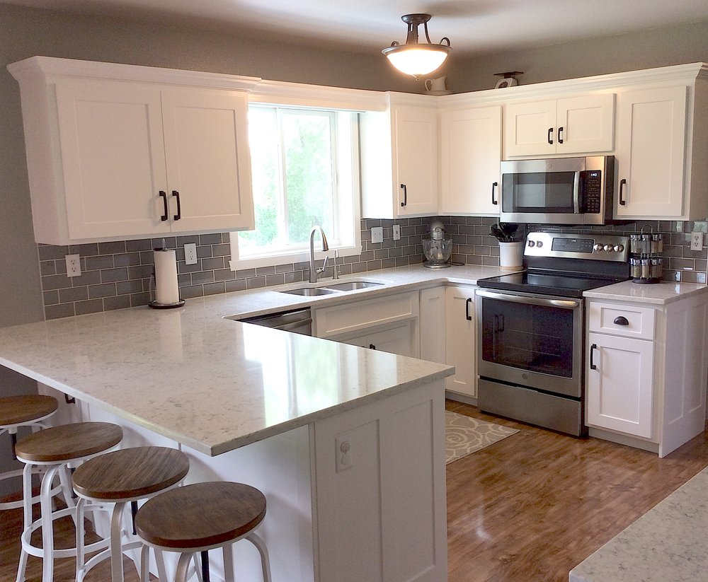 They make it much less overwhelming - Angela D., Hawley, Minn.We just finished up a remodel on our kitchen with Kitchen Refresh and I LOVE my new kitchen! They do a great job helping to coordinate all the various steps of the project making the process much less overwhelming! I would definitely recommend them and very much appreciate all their help and hard work!