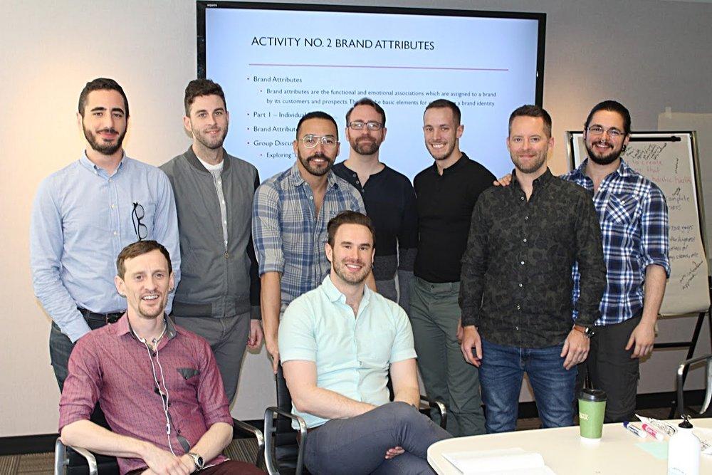 Certains des membres de l'équipe d' Advance  -représentant le cinq agencies partenaires- lors d'une réunion de planification à Vancouver le printemps dernier (2018)