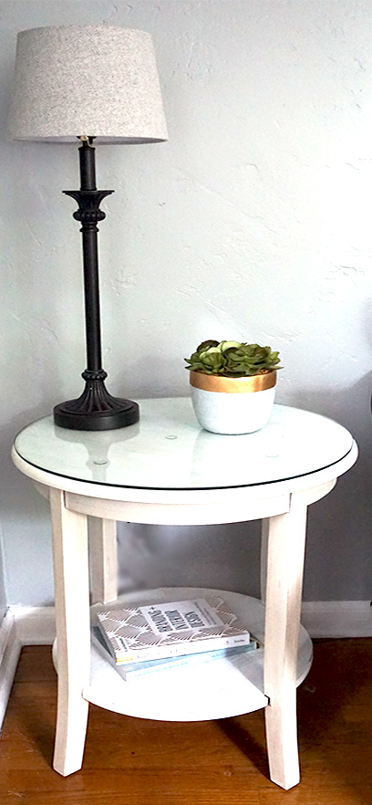 Refinished modern farmhouse side table