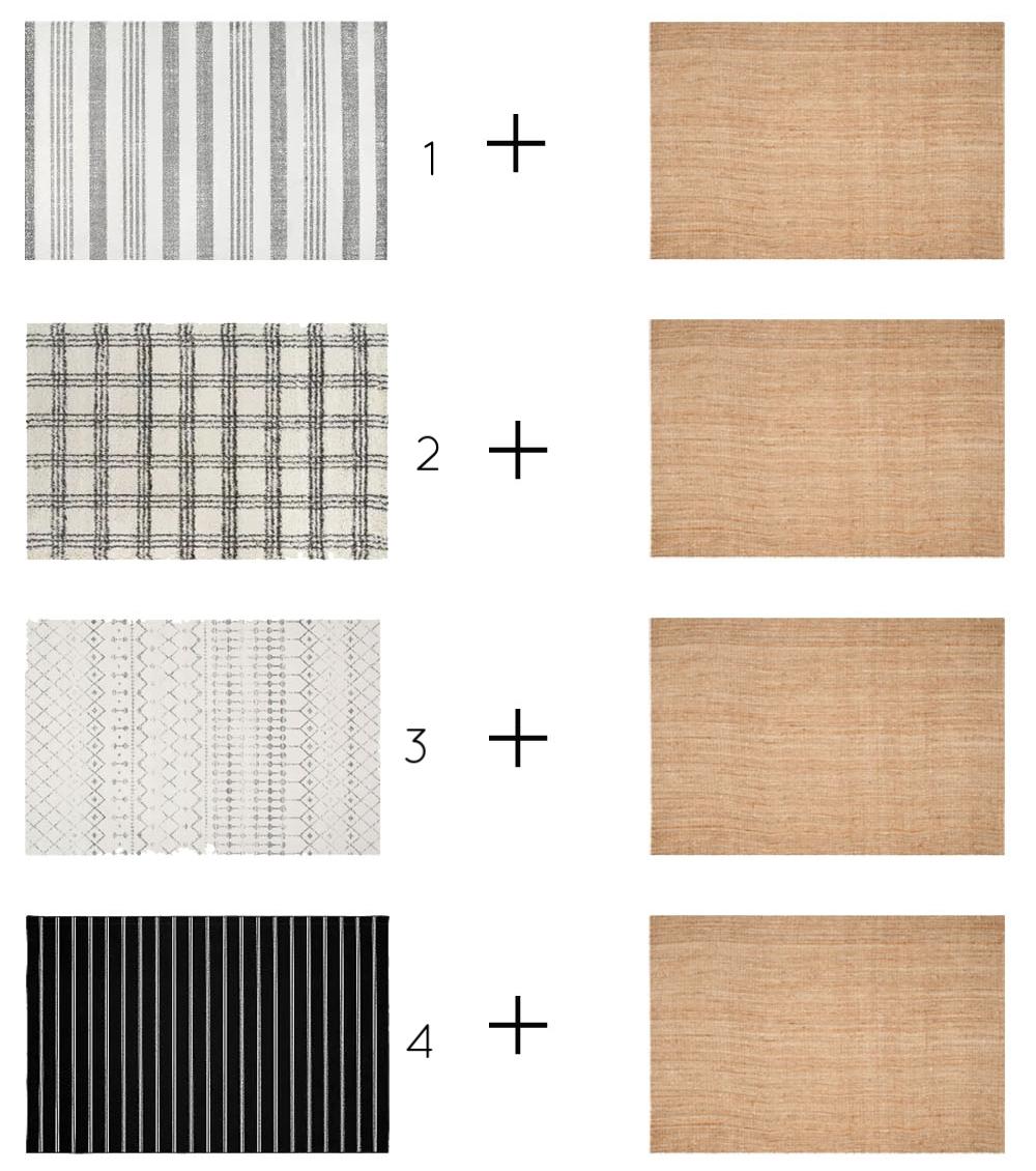 Modern Farmhouse Layered Rugs -