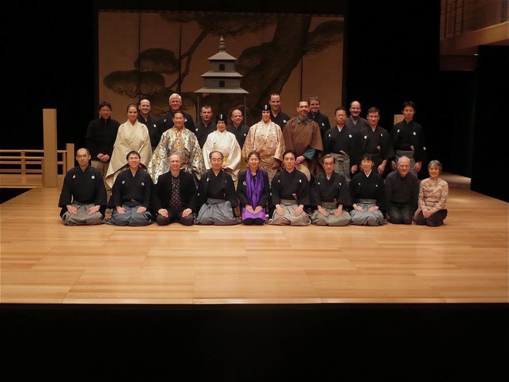 Pagoda Cast and Production Team : December 2009, following the last performance of  Pagoda  at the  Maison de la Culture du Japon , Paris.
