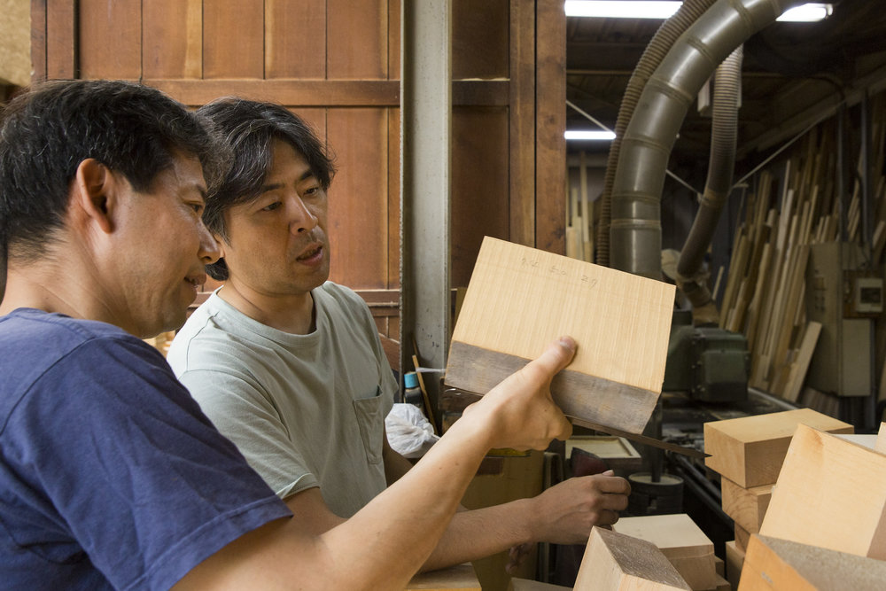 Choosing the Hinoki (Japanese Cypress) wood