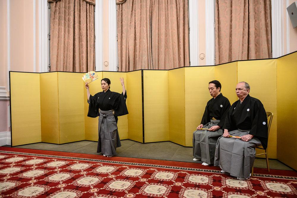 Kinue Oshima performs a short dance