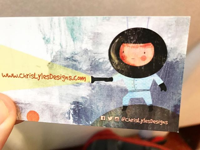 New business cards coming with me for a big day in NYC today! Thanks to #tomryansstudio * * * * * #businesscards #artistsoninstagram #chrislylesdesigns #illustration #kidslitart #nyc