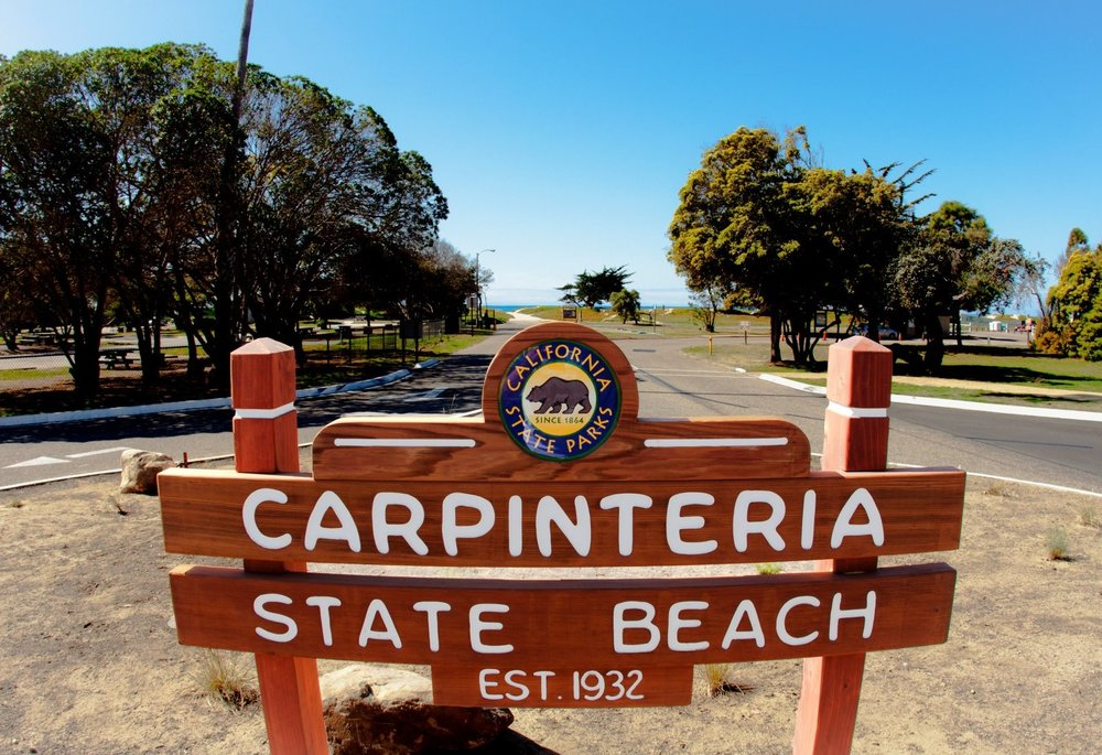 Carpinteria State Beach - Carpinteria State Beach offers a mile of beach for swimming, surf fishing, tidepool exploring and camping.