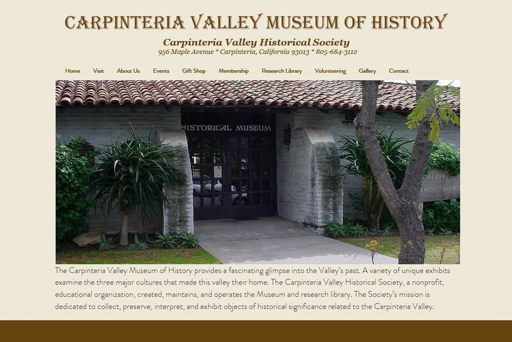Carpinteria Valley Museum of History - Admission is free; Donations are greatly appreciated!!