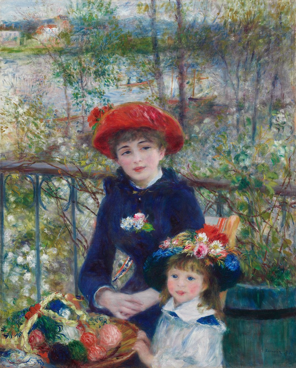 Two Sisters (On the Terrace) (1881)  Pierre-Auguste Renoir