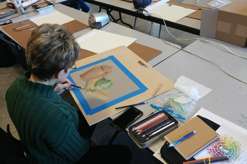 Intermediate Colored Pencil Drawing Workshop