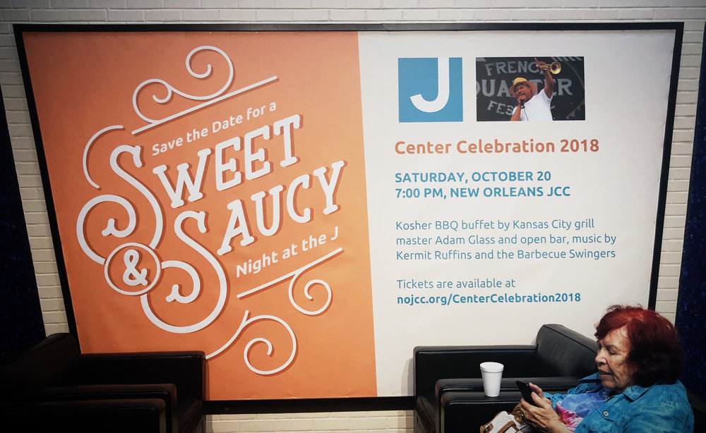 Indoor Banner for the 2018 New Orleans JCC Center Celebration.