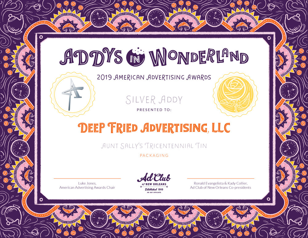 Silver Addys Certificate