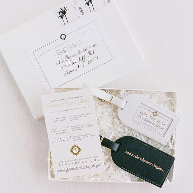 Weekend itinerary and luggage tags for a destination wedding design with @poshpartygal Custom details are 👑