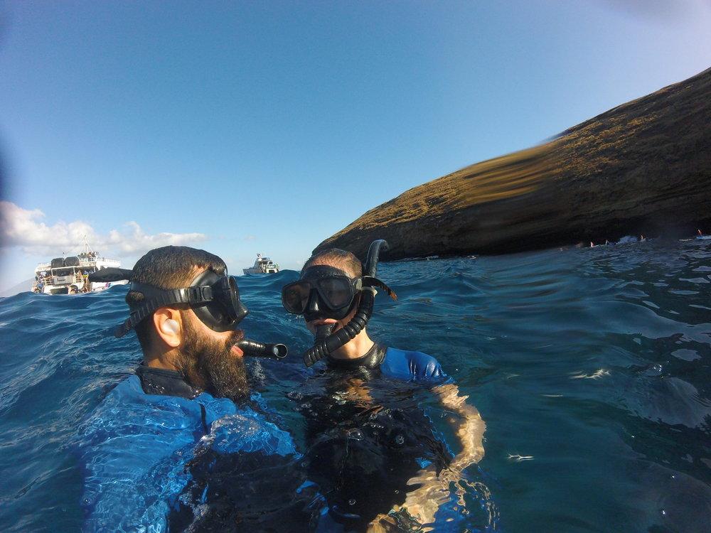 Snorkeling near Molokini Crater