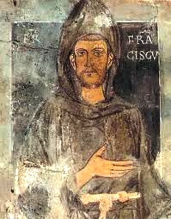 St Francis of Assisi - Earliest known Portrait from 1228