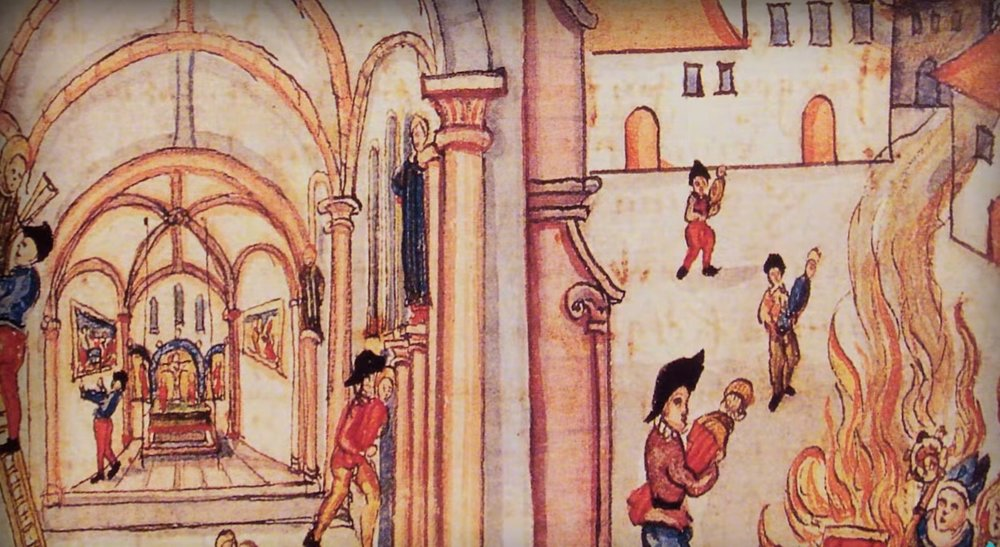 Changing the church from Roman Catholic to Protestant