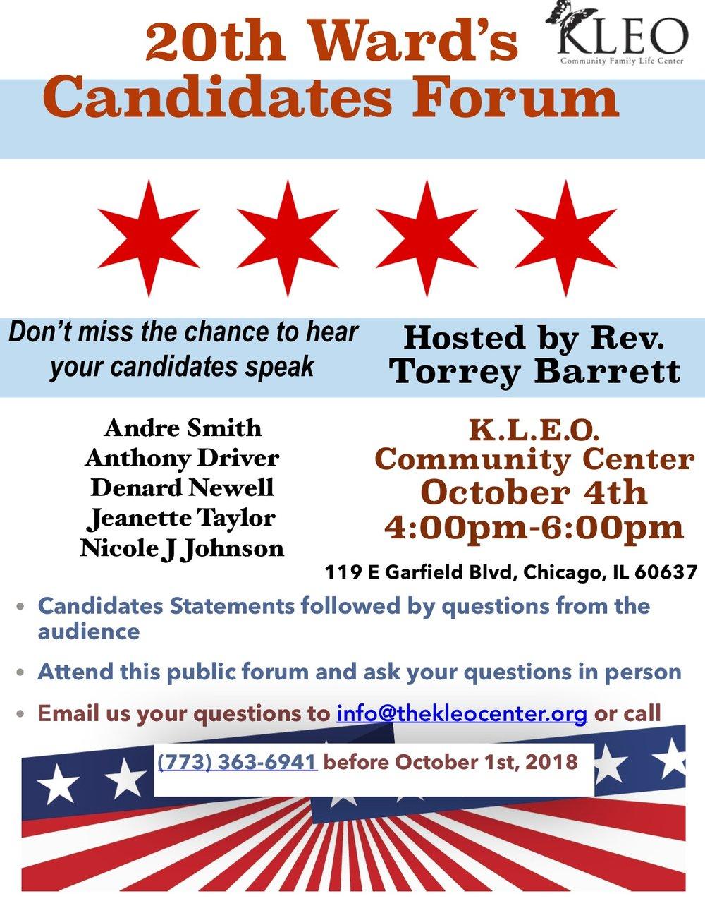 20 th ward's Candidates Forum -2.jpg