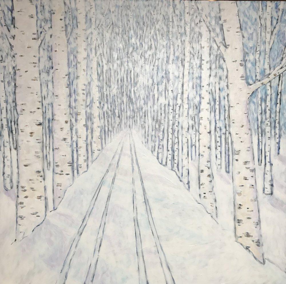 Acrylic / Canvas  4ft X 4 ft  $1500