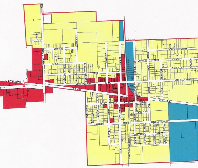 Village of Pigeon Zoning Map