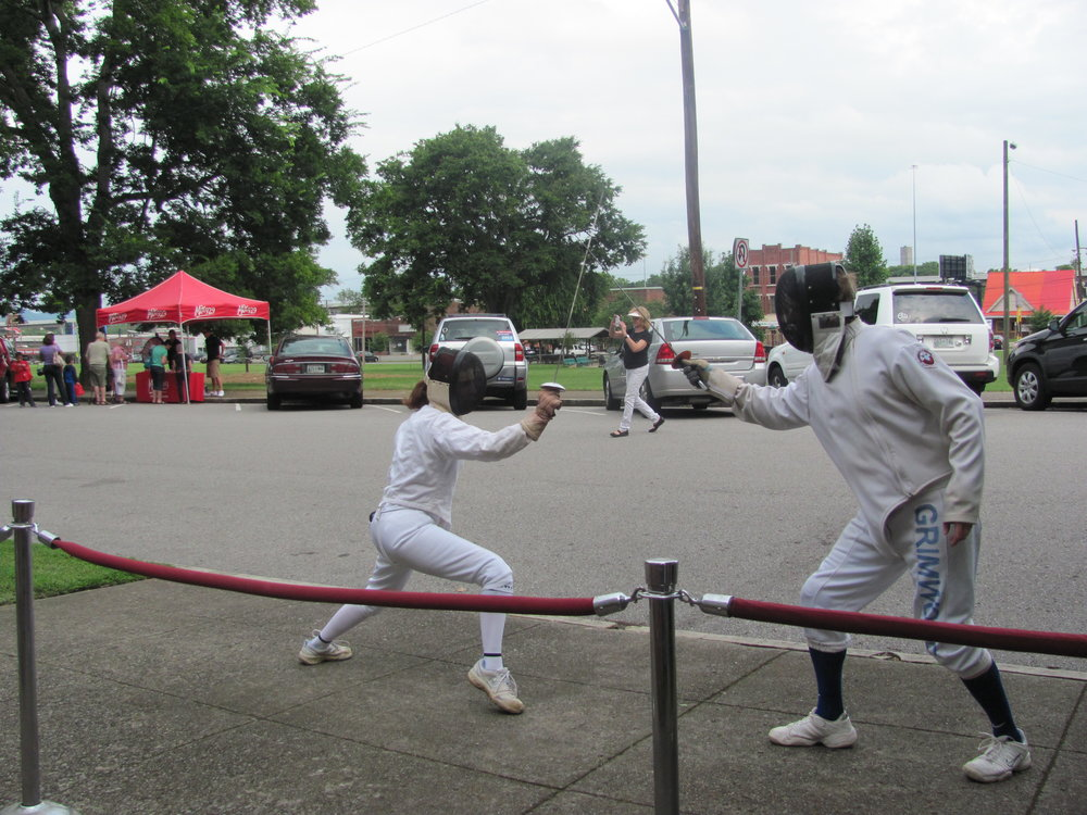 Donovan Grimwood  I teach the sport of fencing in three different classes offered through Nashville Community Education because it is a fun, enjoyable, and challenging sport. Whether you want to be a pirate, a Jedi, or looking for a sport that is individualistic in nature and will challenge you in a fun and safe manner, fencing is for you.